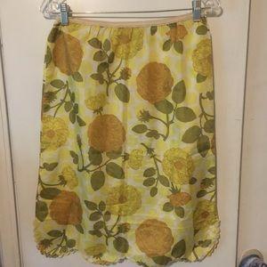 Vintage Gold Foral Slip Skirt
